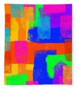 World Of Color Fleece Blanket
