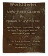 World Series 1913 Fleece Blanket