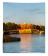 World Showcase Lagoon Before The Show Walt Disney World Fleece Blanket