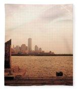 world Trade Center From Pier Fleece Blanket