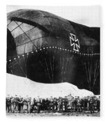 World War I: Airship Fleece Blanket