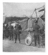 World War I: Aviators, 1914 Fleece Blanket