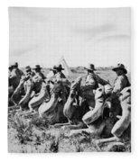 World War I: Camel Corps Fleece Blanket