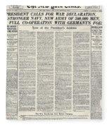 World War I: Declaration Fleece Blanket