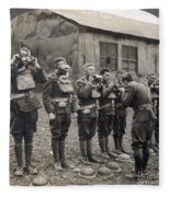 World War I: Gas Masks Fleece Blanket