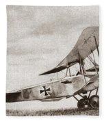World War I: German Biplane Fleece Blanket