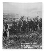 World War I: German Pows Fleece Blanket