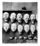 World War I Masks, 1918 - To License For Professional Use Visit Granger.com Fleece Blanket