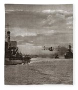 World War I: Naval Fleet Fleece Blanket