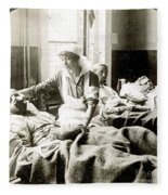 World War I: Nurse Fleece Blanket