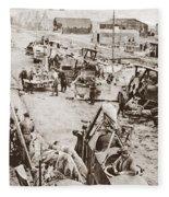 World War I: Plane Repair Fleece Blanket