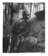 World War I: Soldier Fleece Blanket