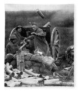 World War I: U.s. Artillery Fleece Blanket