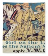 World War I Ywca Poster  Fleece Blanket