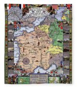 World War One Historian's Panel Fleece Blanket