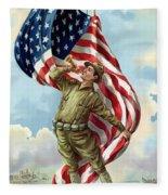 World War One Soldier Fleece Blanket