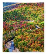Worlds End State Park Lookout 3 - Paint Fleece Blanket