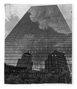 World's Largest Canvas John Hancock Tower Boston Ma Black And White Fleece Blanket