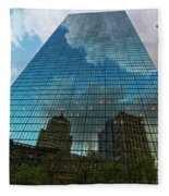 World's Largest Canvas John Hancock Tower Boston Ma Fleece Blanket
