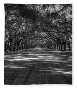 Wormsloe Plantation 2 Live Oak Avenue Art Fleece Blanket
