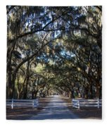 Wormsloe Avenue #2 Fleece Blanket