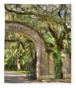 Wormsloe Gate Fleece Blanket