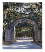 Wormsloe Gates Fleece Blanket