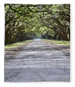 Wormsloe Plantation Fleece Blanket