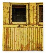 Worn Yellow Passanger Car Fleece Blanket