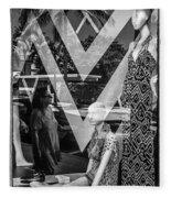 Worth Ave Reflections 0487 Fleece Blanket