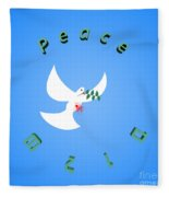 Wounded Dove Symbol Of Peace  Fleece Blanket