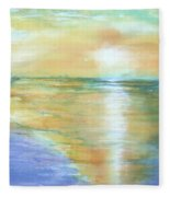 Wow Sunset Fleece Blanket