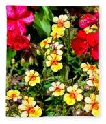 Wp Floral Study 1 2014 Fleece Blanket