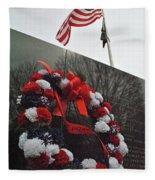 Wreath Of The Korean War Fleece Blanket