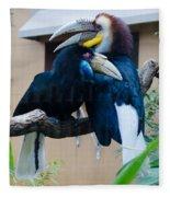 Wreathed Hornbills Fleece Blanket
