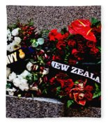 Wreaths From New Zealand And Our Navy Fleece Blanket