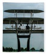Wright Flyer Memorial Dayton Fleece Blanket