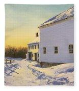 Wright-locke Farm And Squash House Fleece Blanket