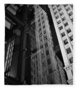Wrigley Building Reflections Fleece Blanket