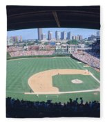 Wrigley Field, Chicago, Cubs V Fleece Blanket