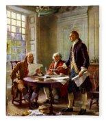 Writing The Declaration Of Independence Fleece Blanket