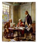 Writing The Declaration Of Independence Fleece Blanket