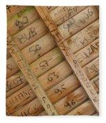 Writings On Wood Fleece Blanket