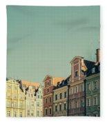 Wroclaw Architecture Fleece Blanket