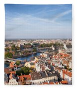 Wroclaw Cityscape In Poland Fleece Blanket