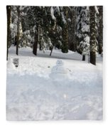 Wrong Way Snowman Fleece Blanket