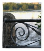 Wrought Iron At Niagara Falls Fleece Blanket