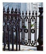 Wrought Iron Cemetery Fence Fleece Blanket