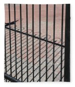 Wrought-iron Gate And Shadows Fleece Blanket