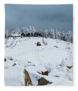Wurmberg, Harz Mountains Fleece Blanket